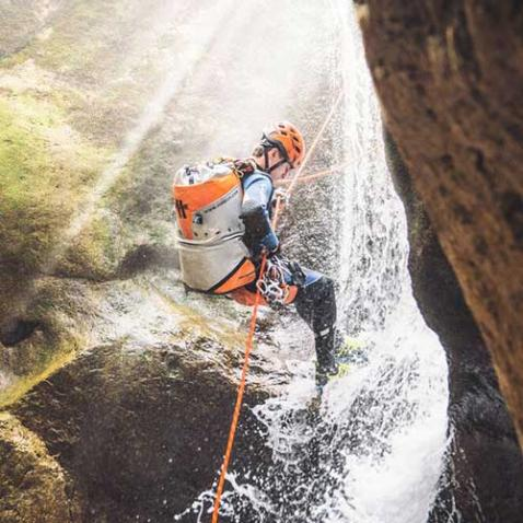 Canyoning for sporty people